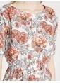 Koton Çiçek Desenli Kısa Elbise Kırmızı
